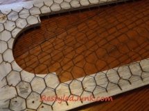 chicken wire transforms your piece quickly. no mess!